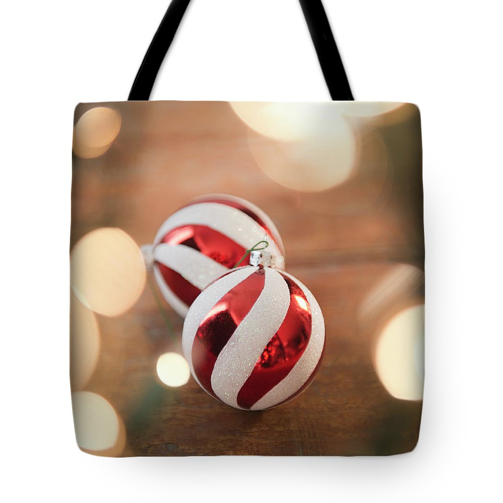Christmas Ornament Tote Bag featuring the photograph Usa, New Jersey, Jersey City, Christmas by Jamie Grill