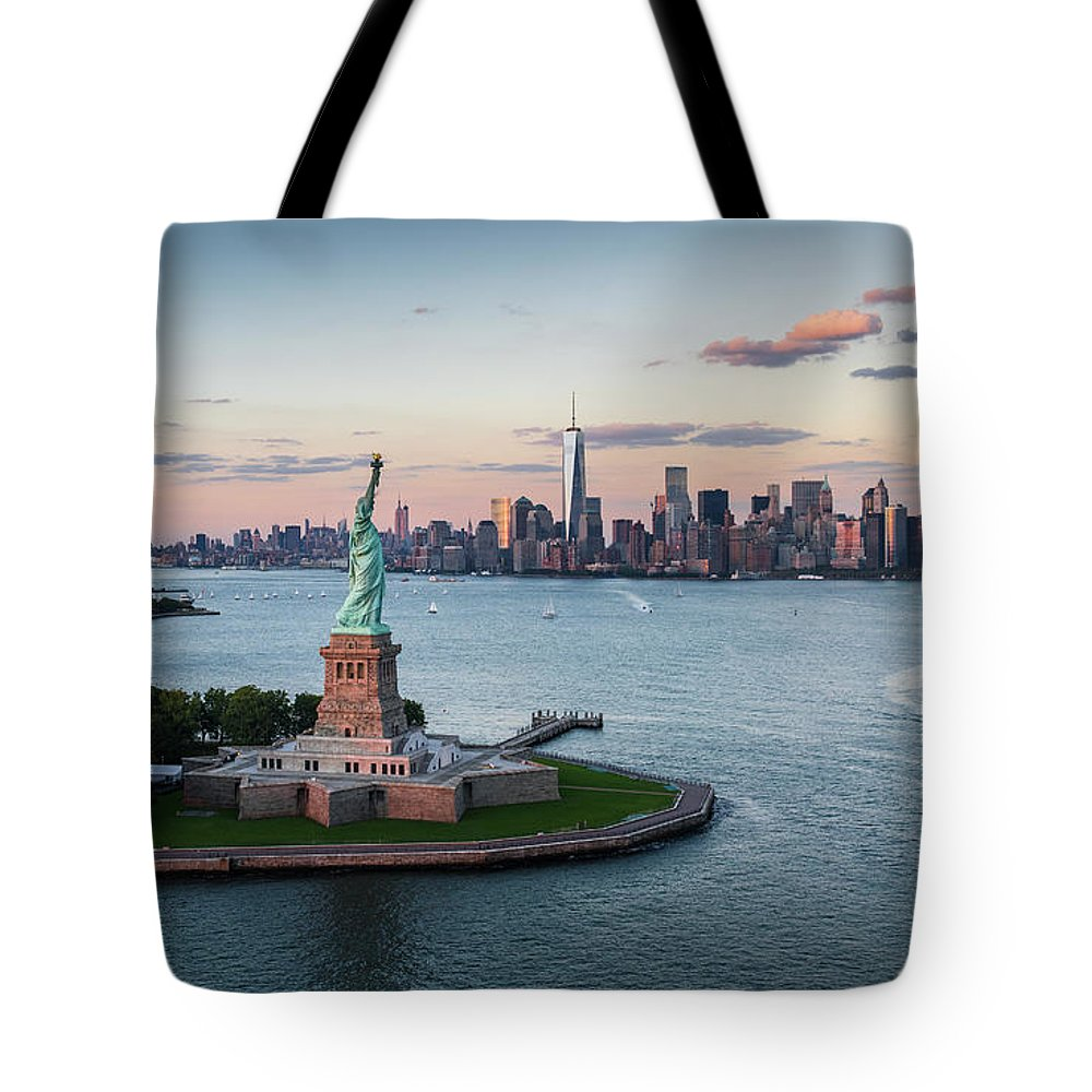Tourboat Tote Bag featuring the photograph Usa, New York State, New York City by Tetra Images