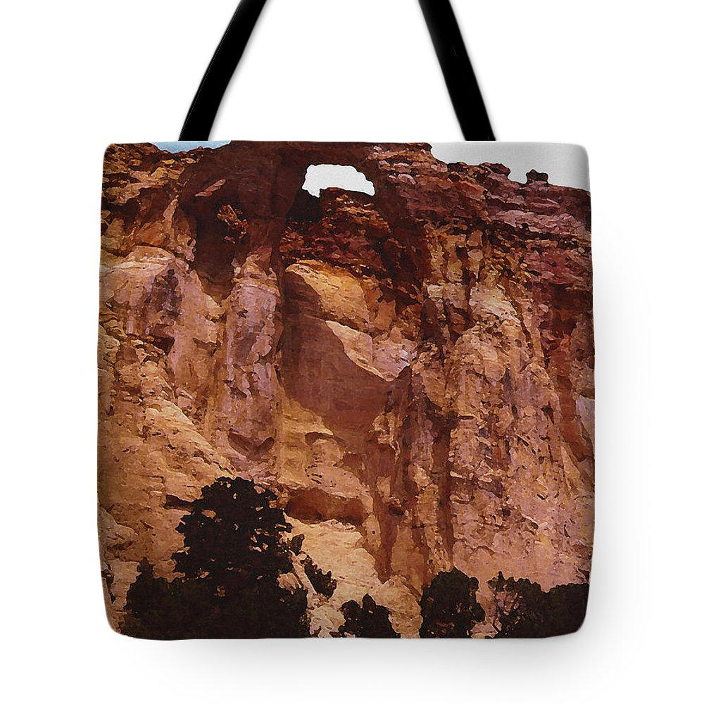 Digital Tote Bag featuring the digital art Utah Arch by David Hansen