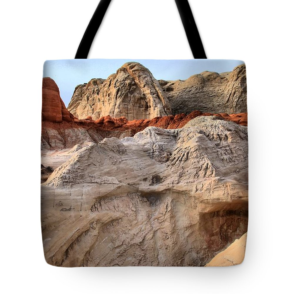 Toadstools Tote Bag featuring the photograph Utah Badlands by Adam Jewell