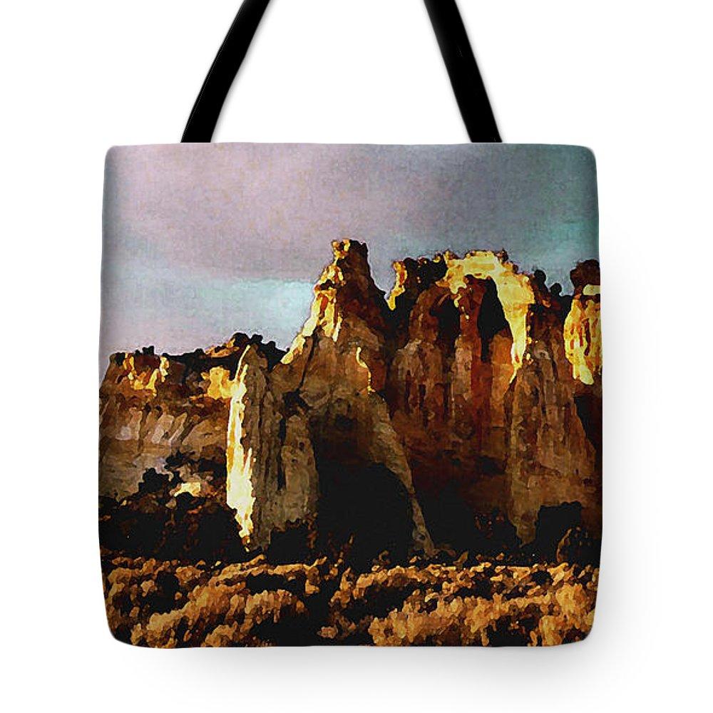 Digital Tote Bag featuring the digital art Utah Country 1 by David Hansen