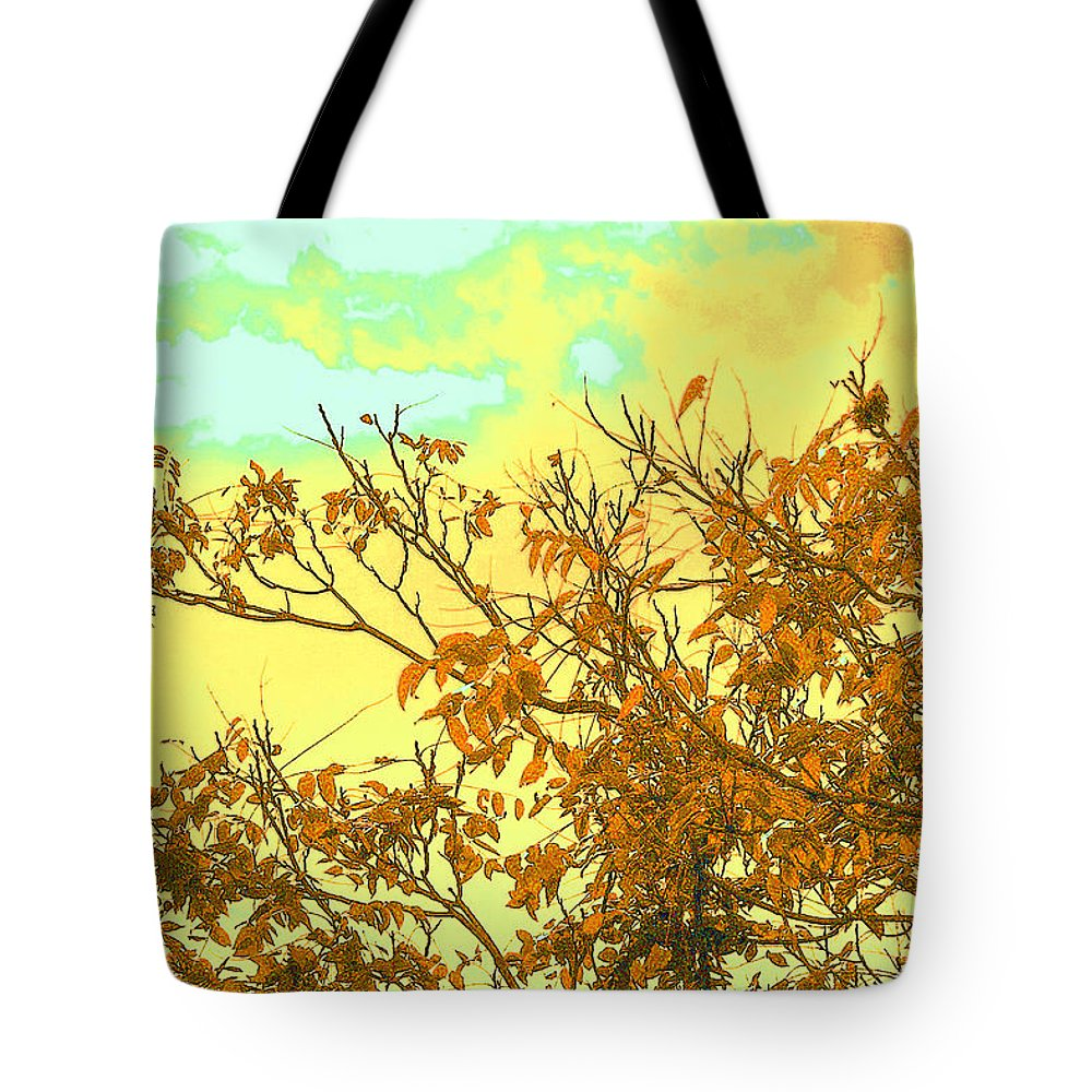 Landscape- Colorful Sky Tote Bag featuring the photograph Utopian by Theresa Cummings