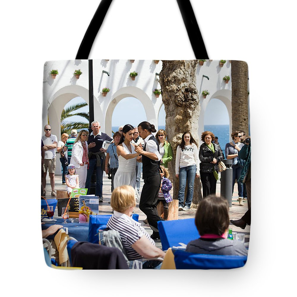 Dance Tote Bag featuring the photograph Vacations In Nerja On Costa Del Sol by Artur Bogacki