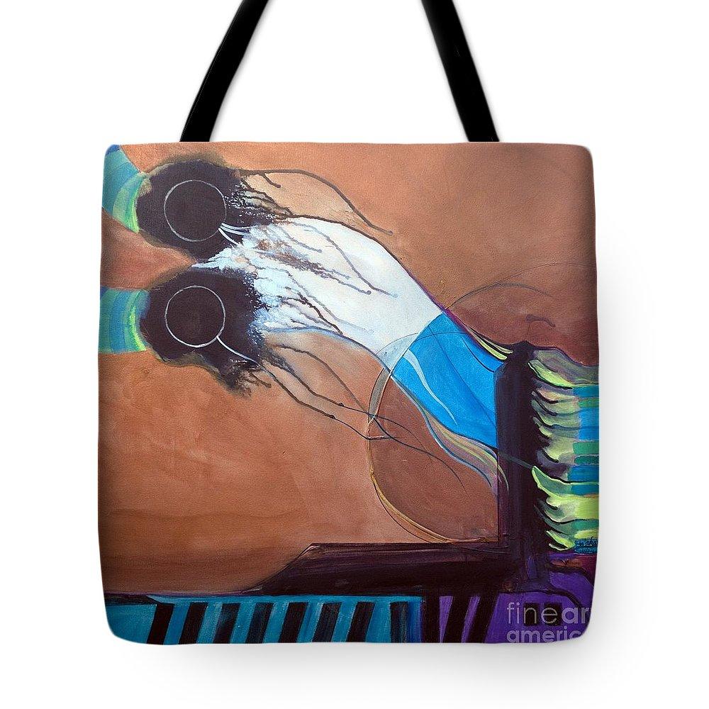 Judaic Tote Bag featuring the painting V'ahavtah by Marlene Burns