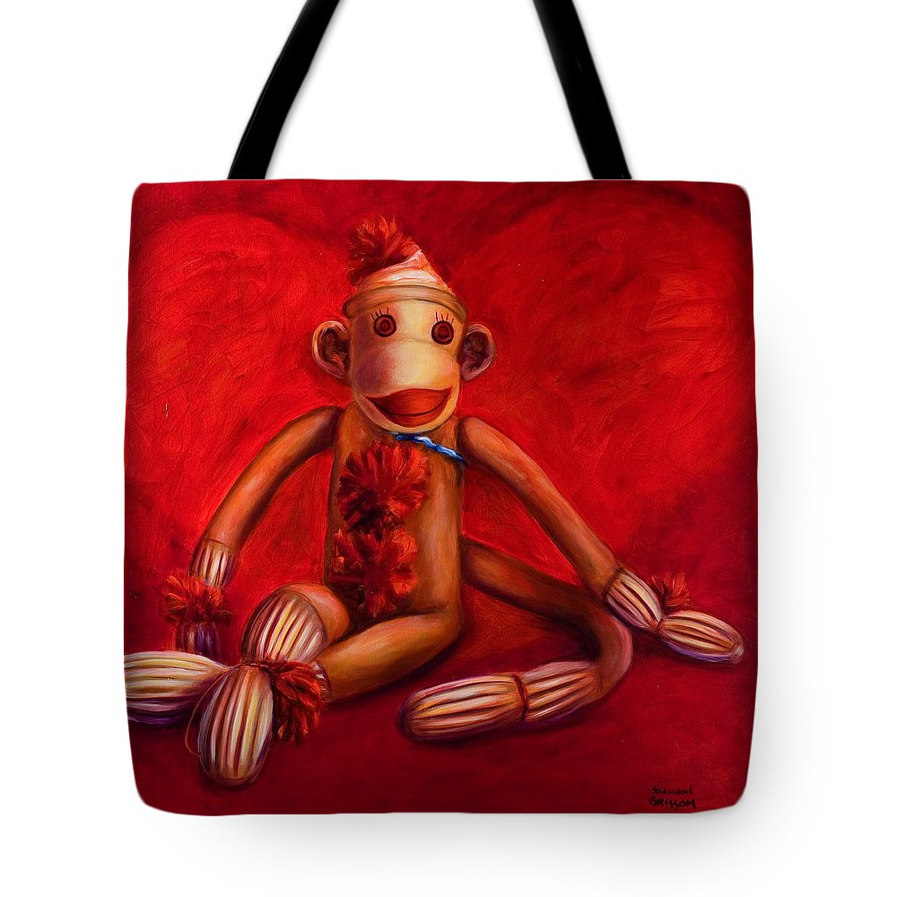Children Tote Bag featuring the painting Valentine by Shannon Grissom