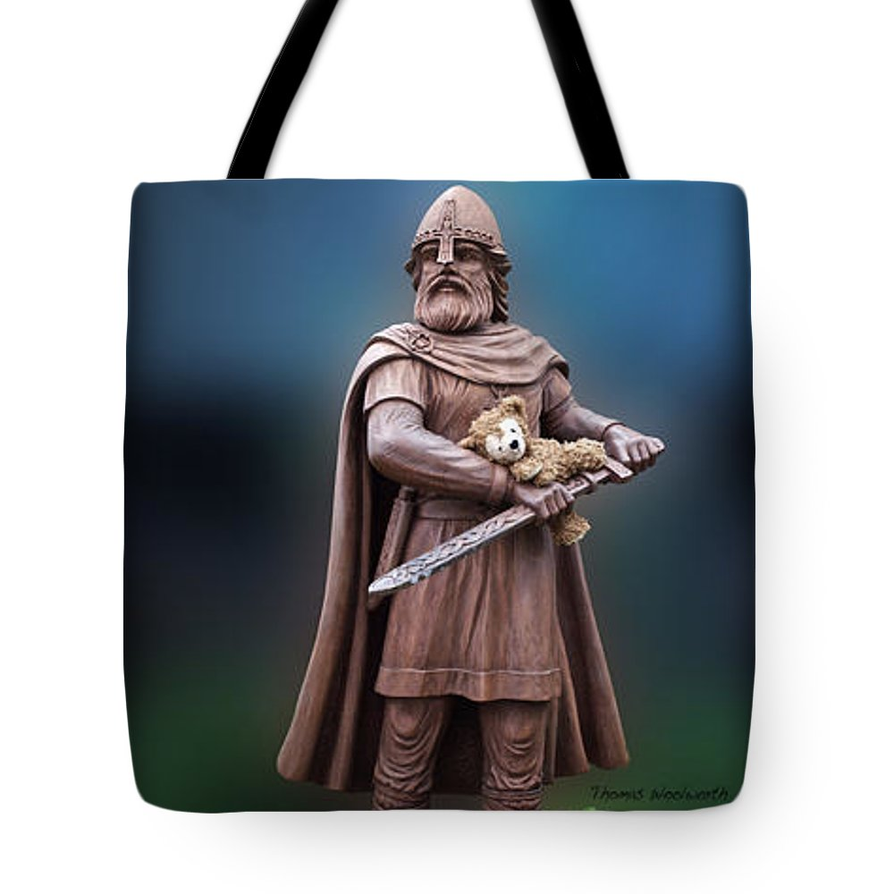 St. Valentine Tote Bag featuring the photograph Valentine Thank You From Viking Bear by Thomas Woolworth