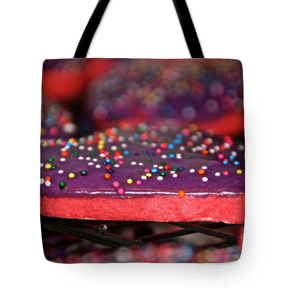 Cookies Tote Bag featuring the photograph Valentine Treats Scratch Made by Susan Herber