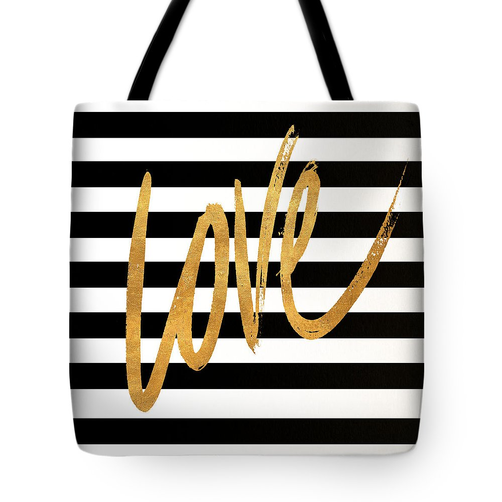 Valentines Tote Bag featuring the digital art Valentines Stripes Iv by South Social Graphics