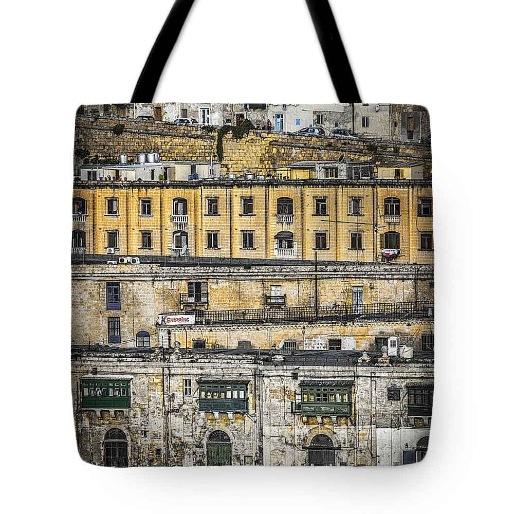Malta Tote Bag featuring the photograph Valletta Malta by Paul and Helen Woodford