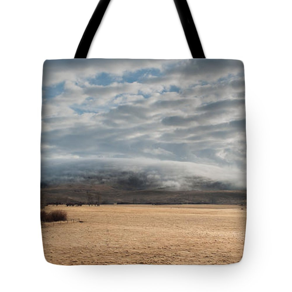 Tote Bag featuring the photograph Valley Clouds by Fran Riley