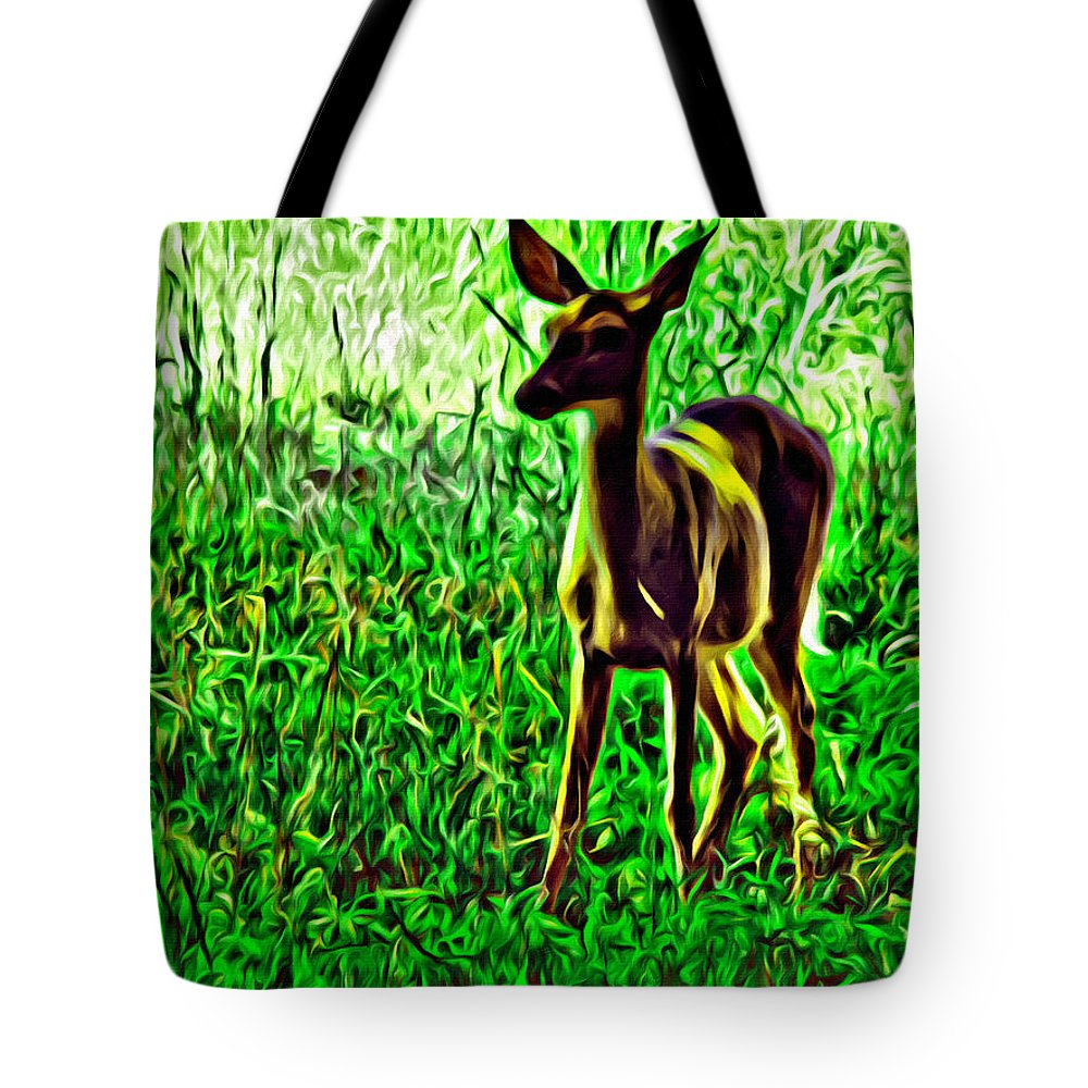 Deer Valley Forge Forest Tote Bag featuring the photograph Valley Forge Deer by Alice Gipson