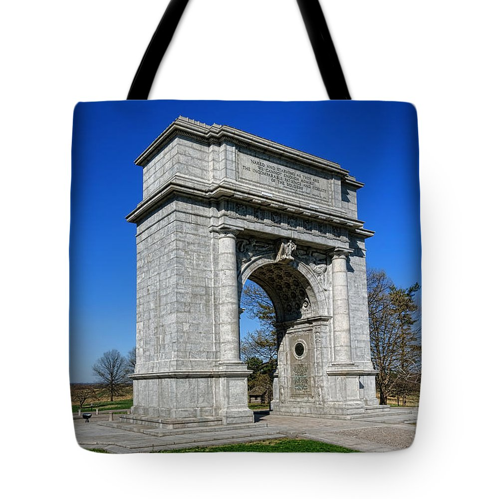 National Tote Bag featuring the photograph Valley Forge National Memorial Arch by Olivier Le Queinec