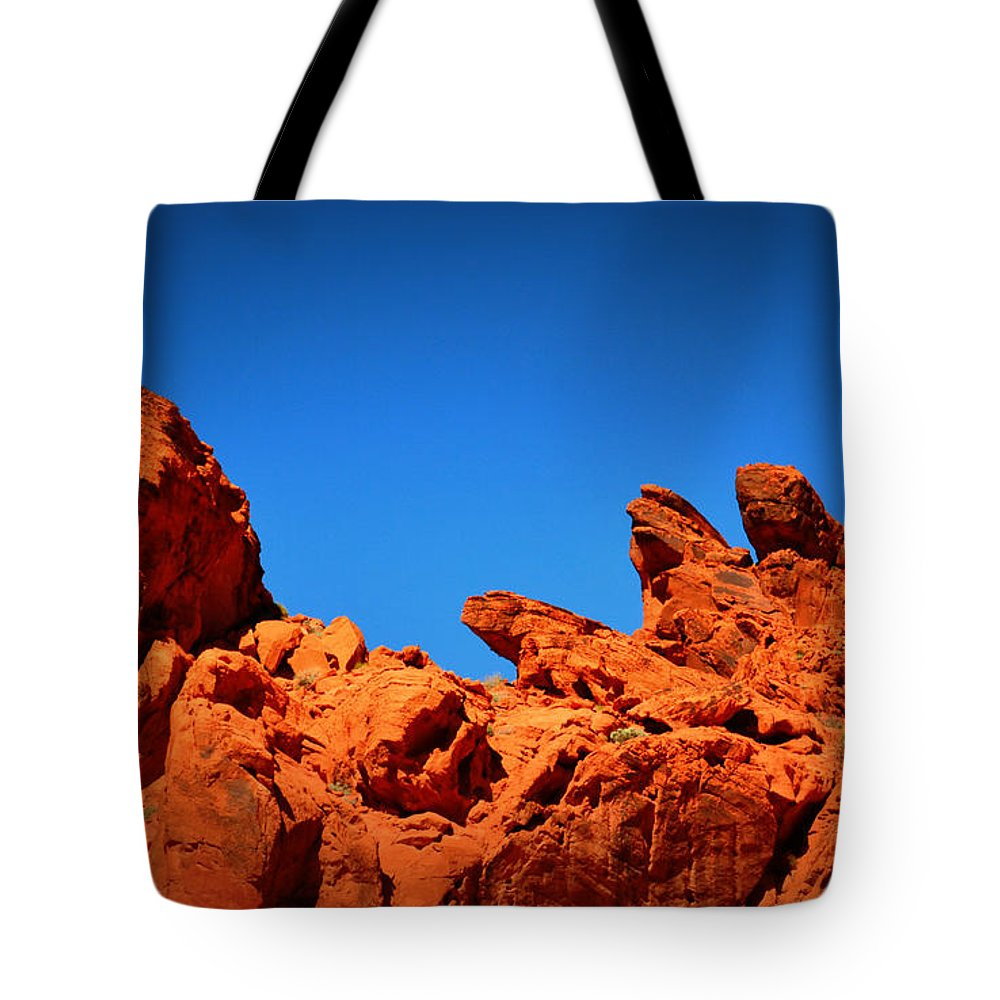 Tote Bag featuring the photograph Valley Of Fire Nevada Desert Rock Lizards by Katy Hawk