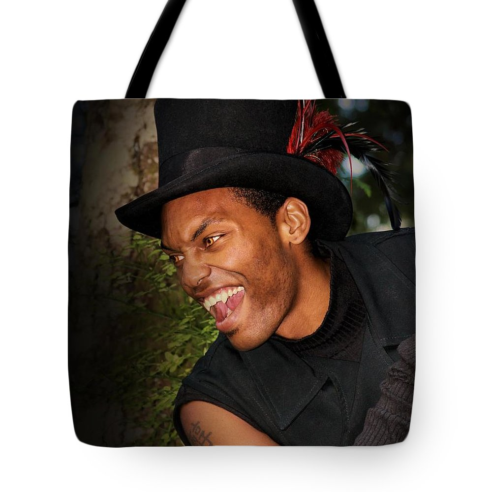 Sexy Tote Bag featuring the photograph Vampire At Night by Jon Volden