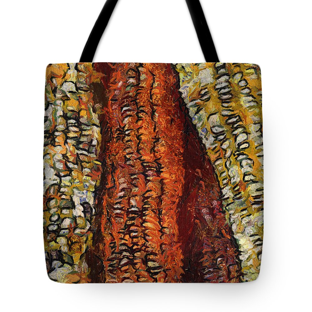 Corn Tote Bag featuring the photograph Van Gogh Corn by Alice Gipson