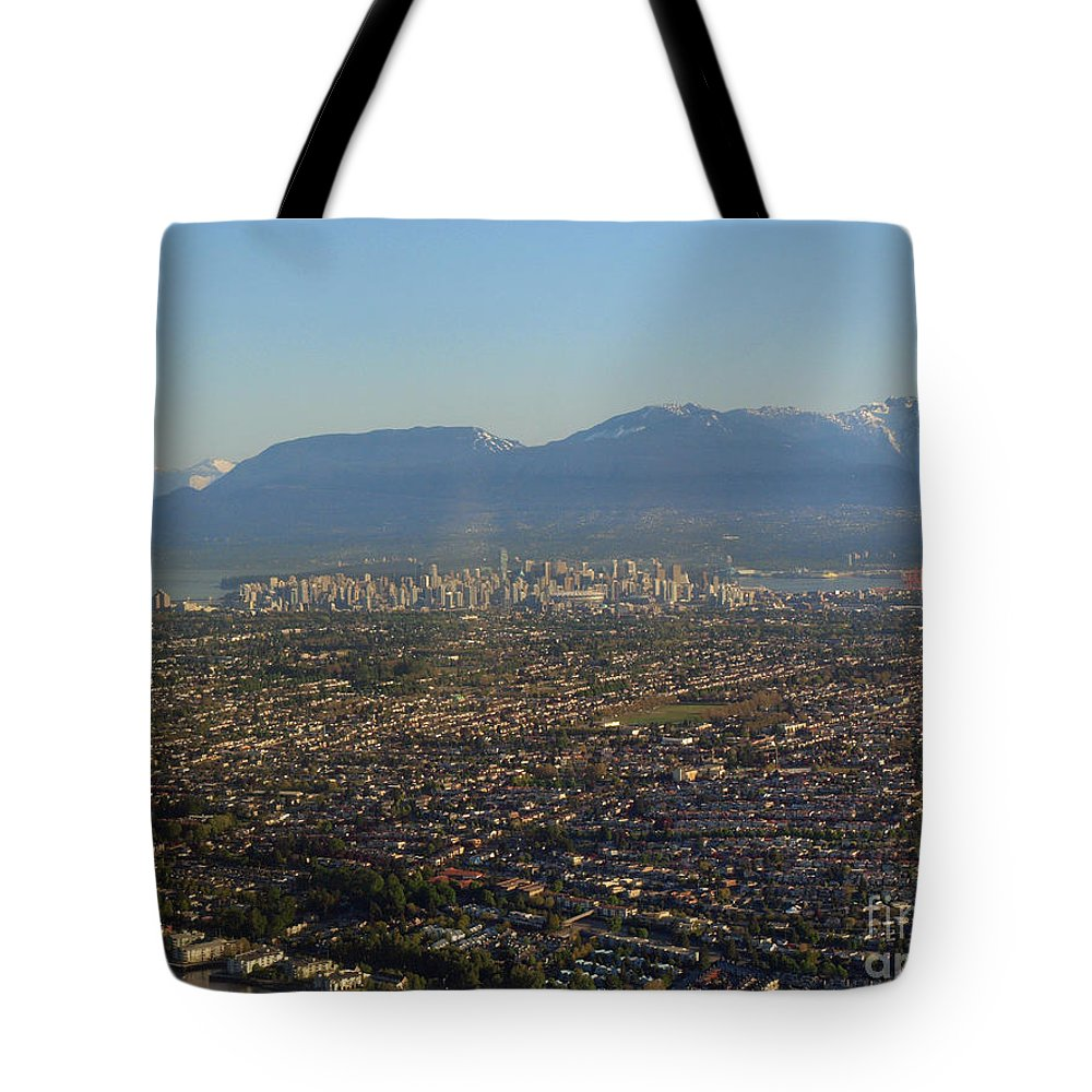 Vancouver Tote Bag featuring the photograph Vancouver At A Glance by Vivian Martin