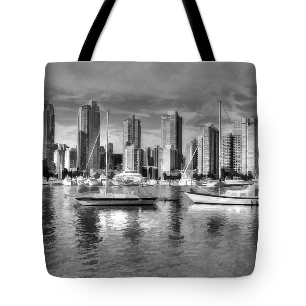 Canada Tote Bag featuring the photograph Vancouver Skyline by Mickey At Rawshutterbug