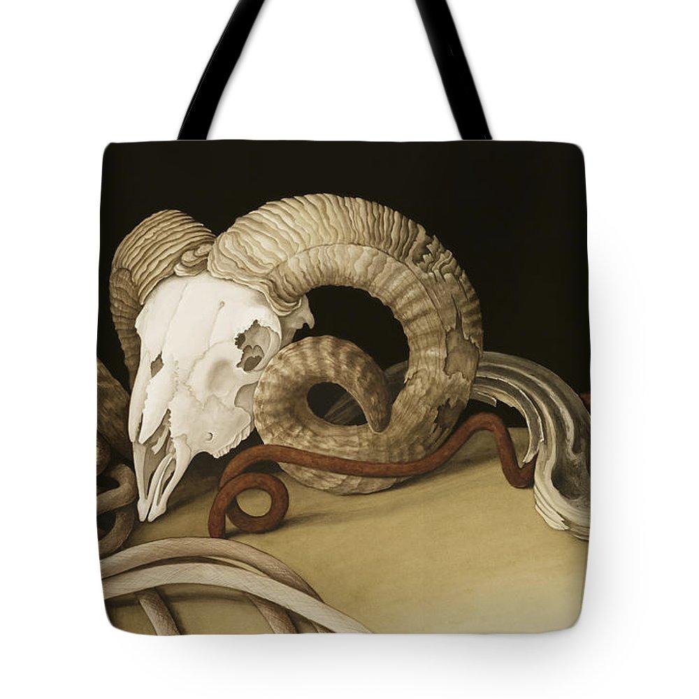 Vanitas Tote Bag featuring the painting Vanitas by Jenny Barron