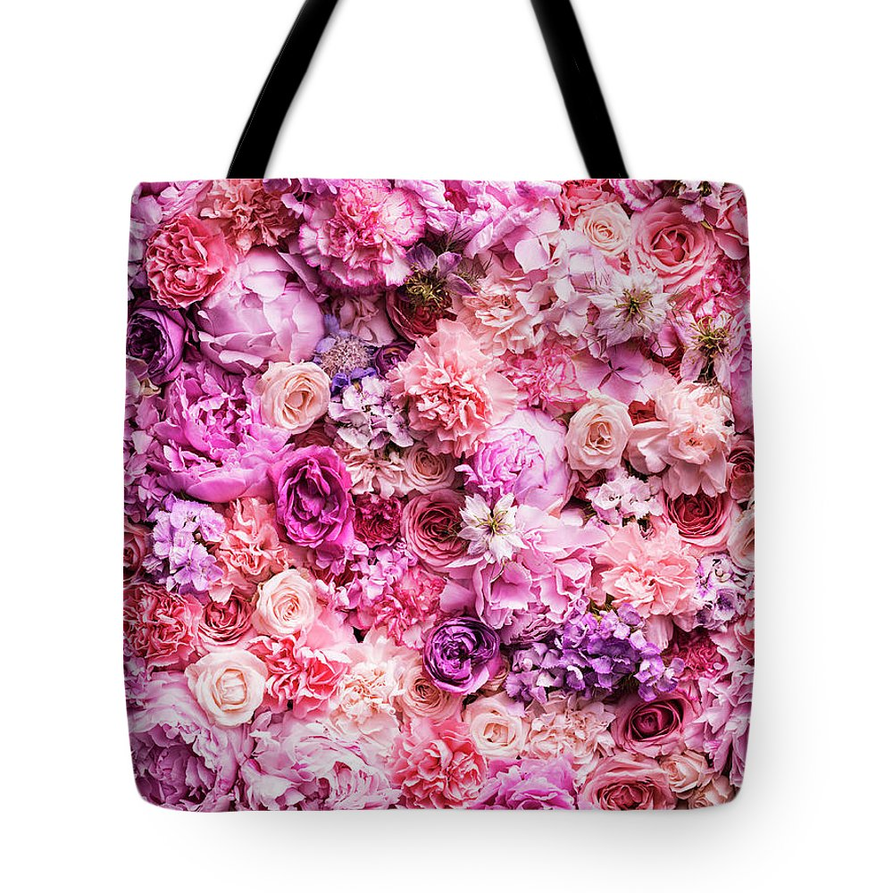 Tranquility Tote Bag featuring the photograph Various Cut Flowers, Detail by Jonathan Knowles