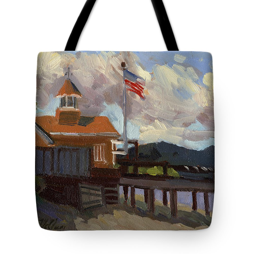 Vashon Island Tote Bag featuring the painting Vashon Island 4th Of July by Diane McClary