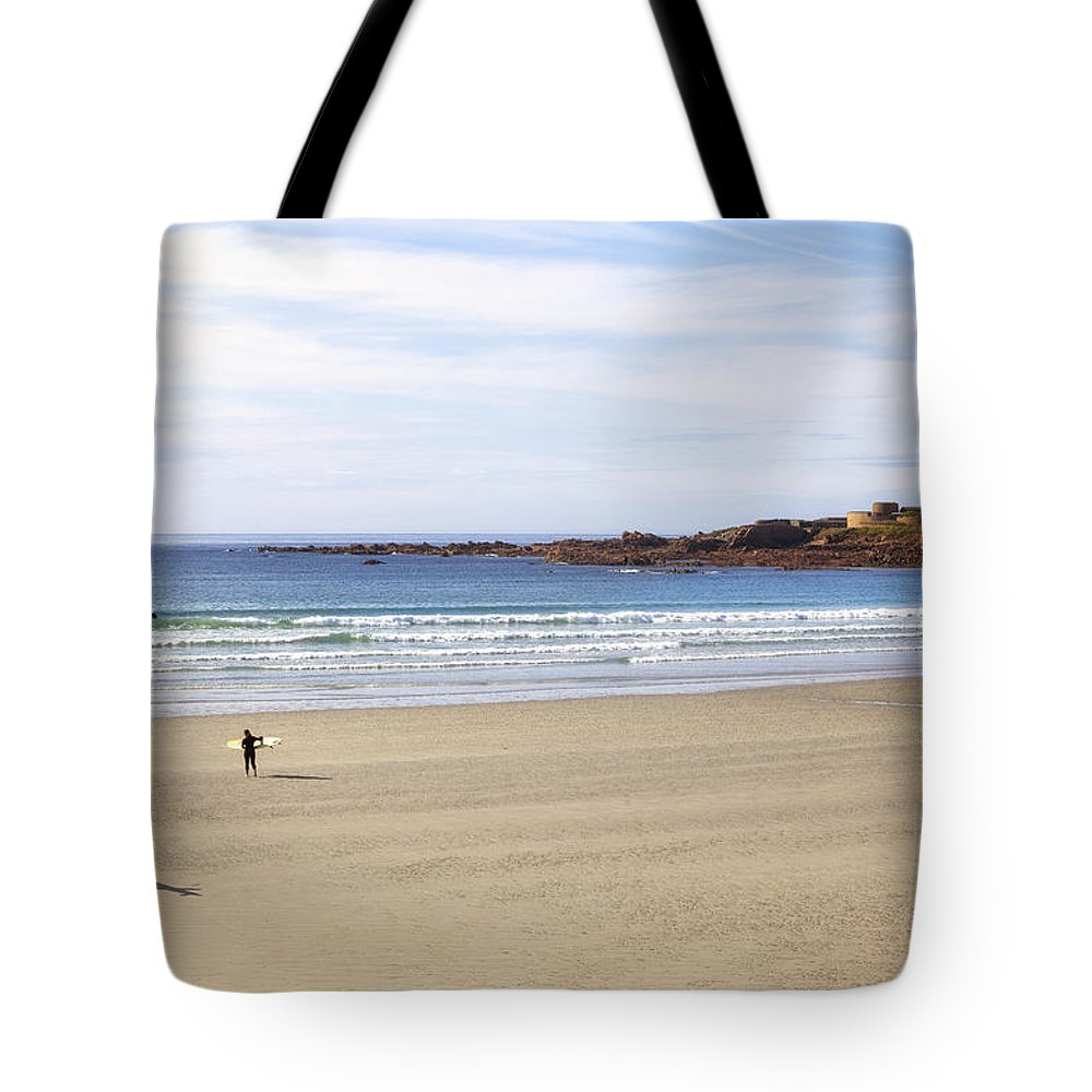 Fort Hommet Tote Bag featuring the photograph Vazon Bay - Guernsey by Joana Kruse