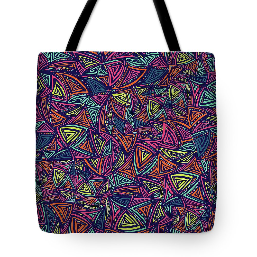 Cool Attitude Tote Bag featuring the digital art Vector Colorful Seamless Pattern With by Tatiana kost