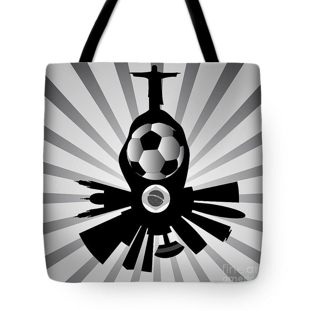 2014 Tote Bag featuring the digital art Vector Rio De Janeiro With Jesus Redeemer by Michal Boubin