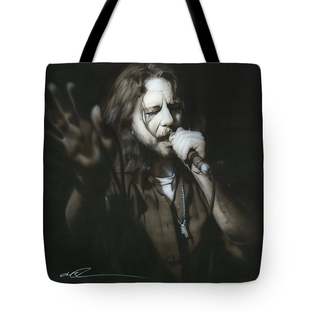 Seattle Tote Bag featuring the painting Vedder IIi by Christian Chapman Art