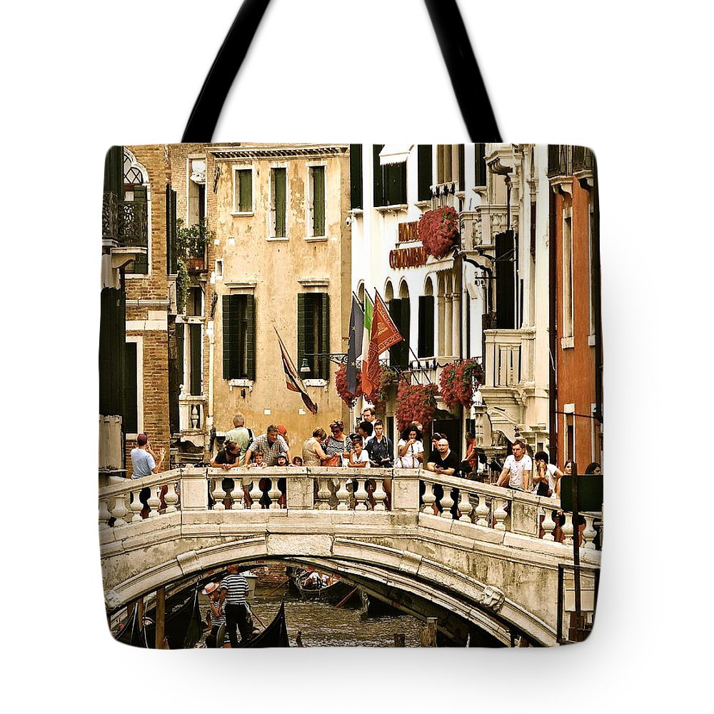Venice Tote Bag featuring the photograph Vegas Or Venice by Ira Shander