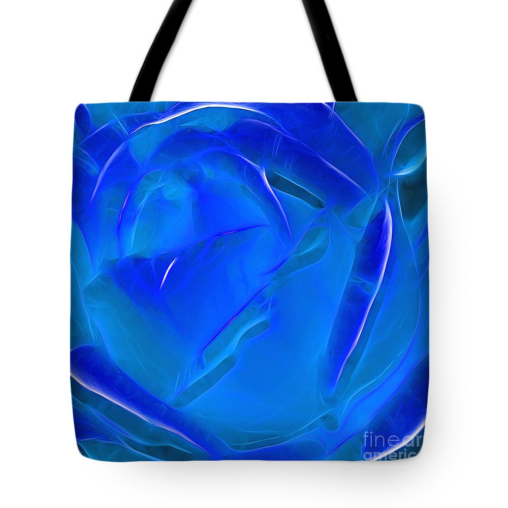 Photography Tote Bag featuring the photograph Veil Of Blue by Kaye Menner