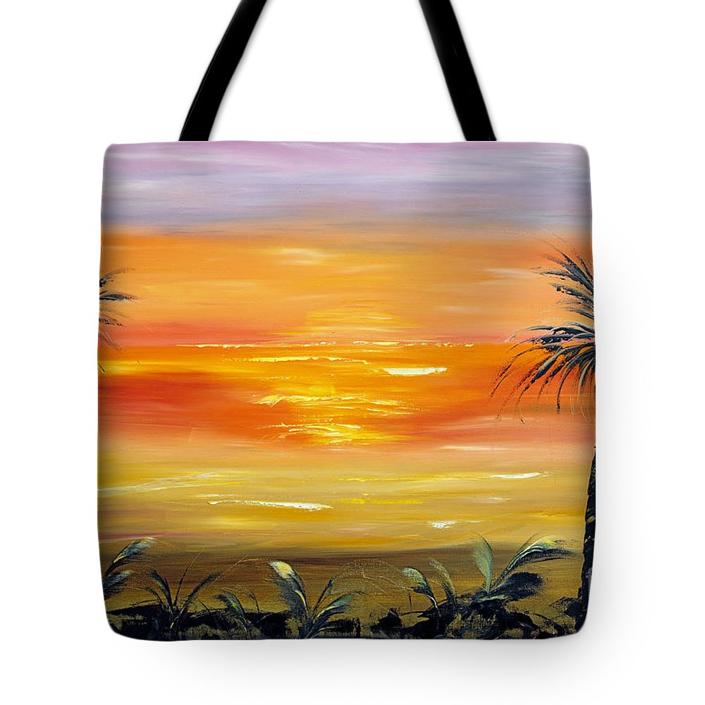 Sky Tote Bag featuring the painting Velvet Sky by Christine Baeza