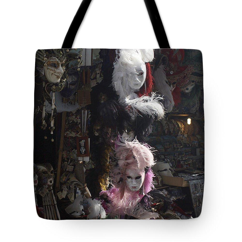 Karen Zuk Rosenblatt Tote Bag featuring the photograph Venetian Masks by Karen Zuk Rosenblatt