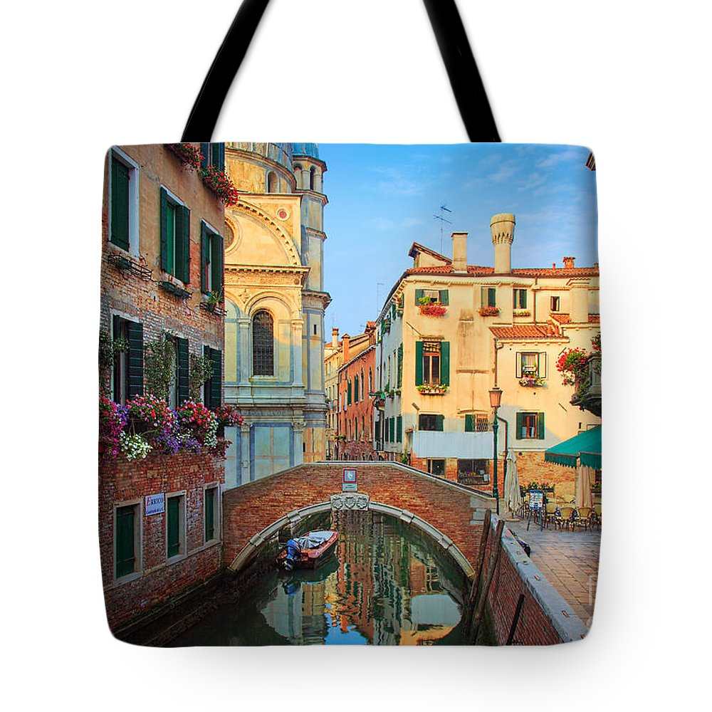 Europe Tote Bag featuring the photograph Venetian Paradise by Inge Johnsson