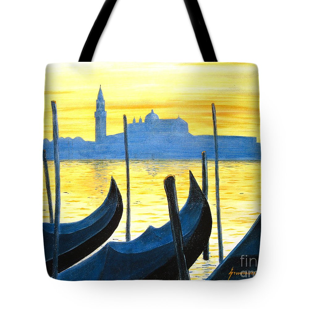 Venice Tote Bag featuring the painting Venezia Venice Italy by Jerome Stumphauzer