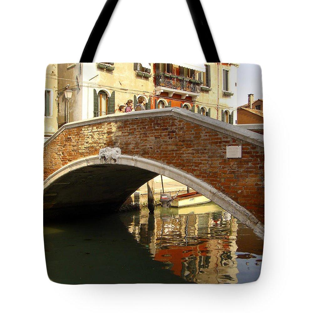Karen Zuk Rosenblatt Tote Bag featuring the photograph Venice Bridge by Karen Zuk Rosenblatt