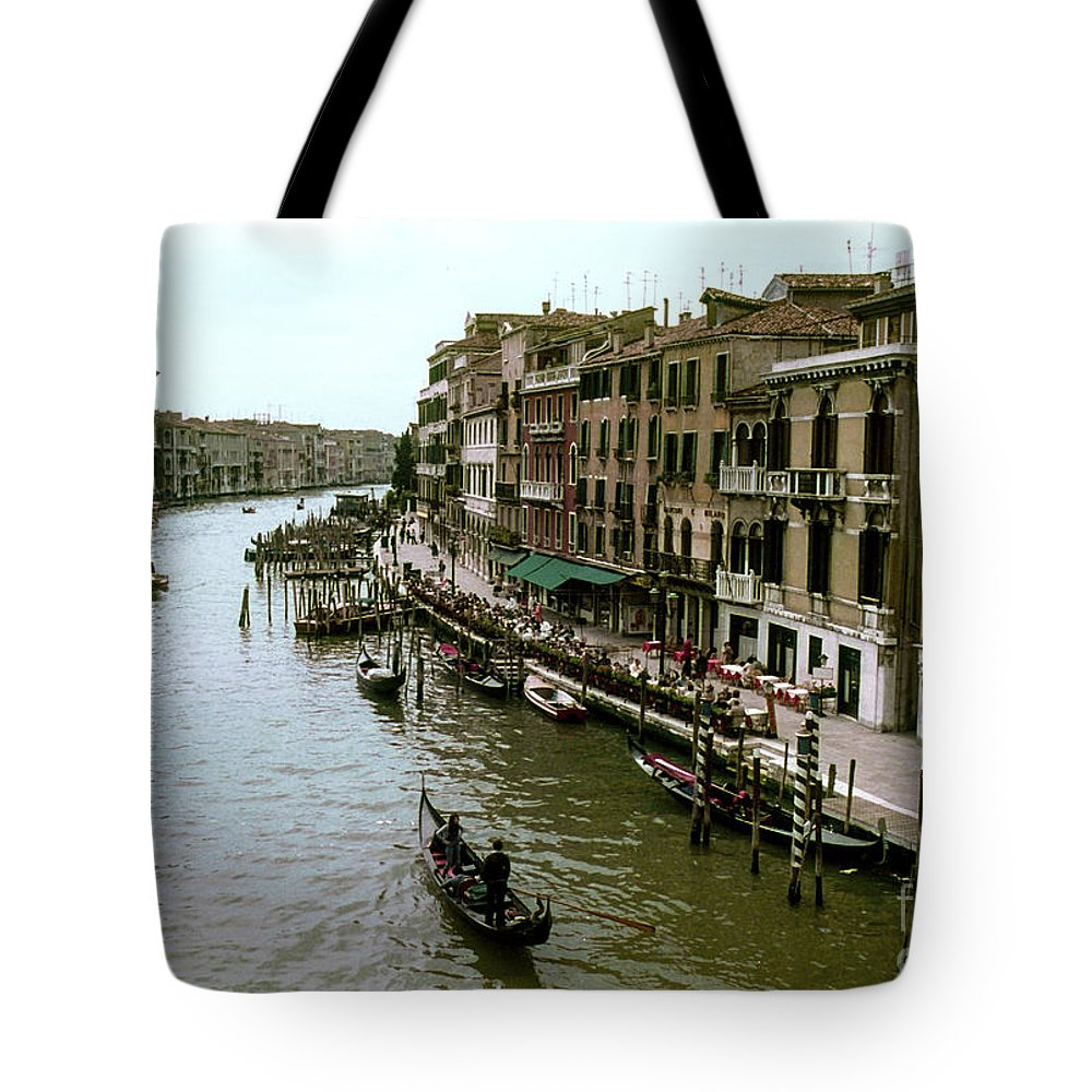 Venice Grand Canal Canals Building Buildings Boat Boats Dock Docks Gondola Gondolas Structure Structures Shop Shops Stores Architecture People Person Persons Water Italy City Cities Cityscape Cityscapes Waterscape Waterscapes Tote Bag featuring the photograph Venice Grand Canal by Bob Phillips