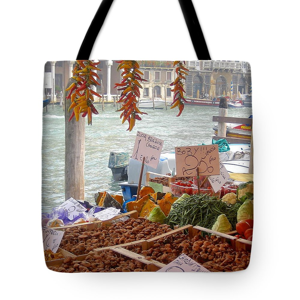 Venice Tote Bag featuring the photograph Venice Market by Suzanne Oesterling