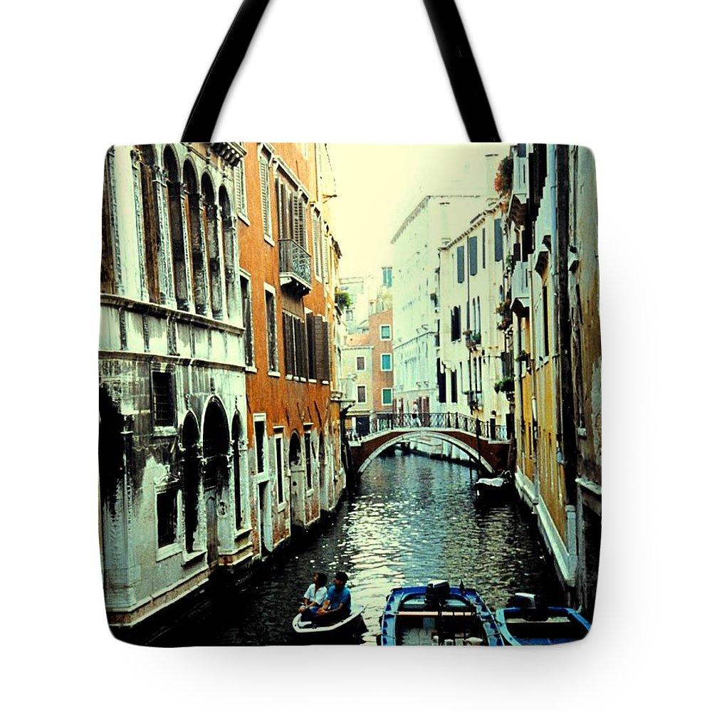 Venice Tote Bag featuring the photograph Venice Street Scene by Ian MacDonald