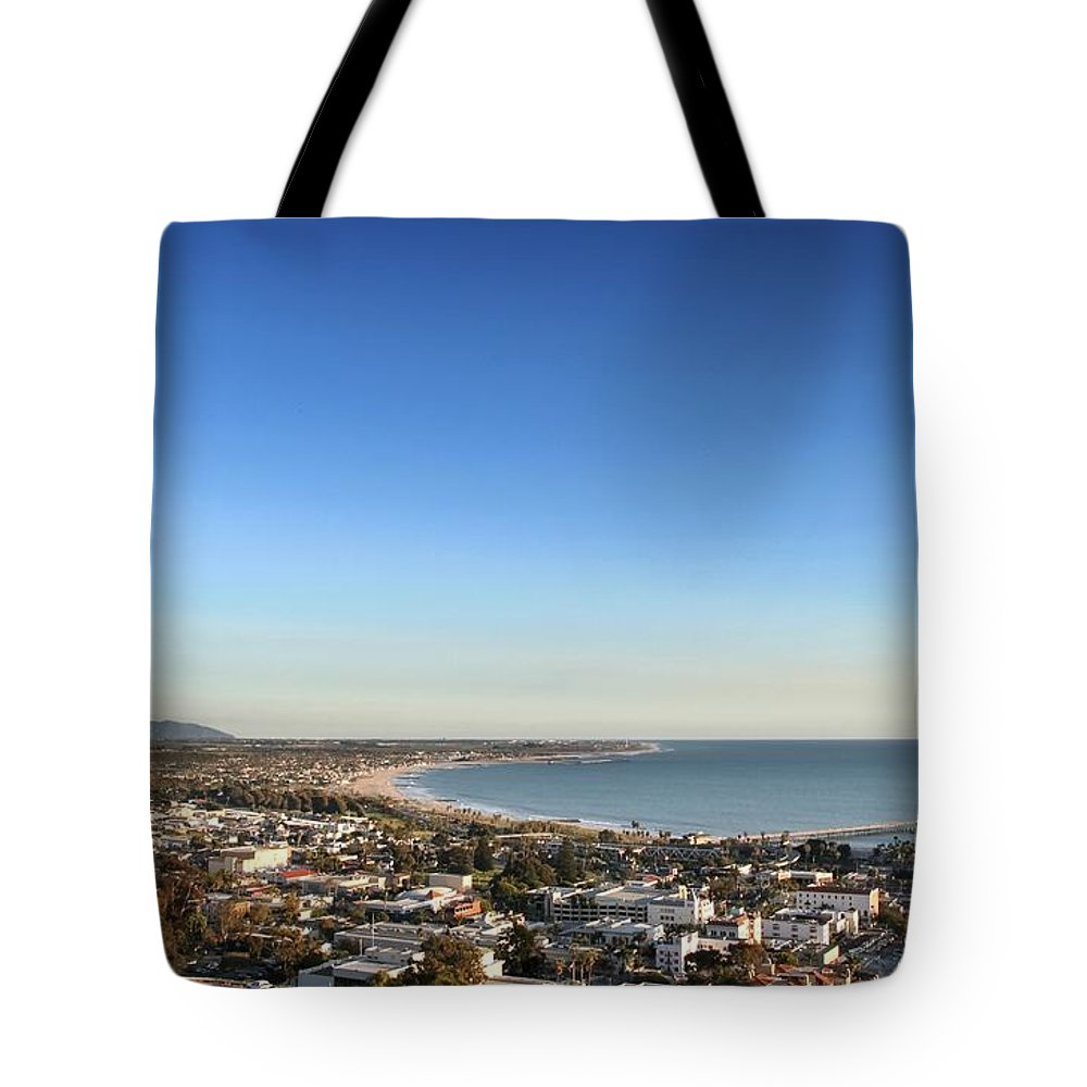 Ventura Tote Bag featuring the photograph Ventura Skyline by Henrik Lehnerer