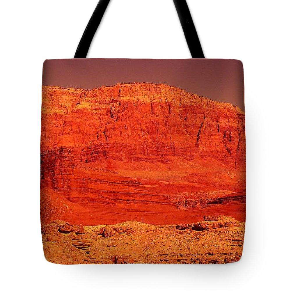 Cliffs Tote Bag featuring the photograph Vermilion Cliffs by Jeff Swan