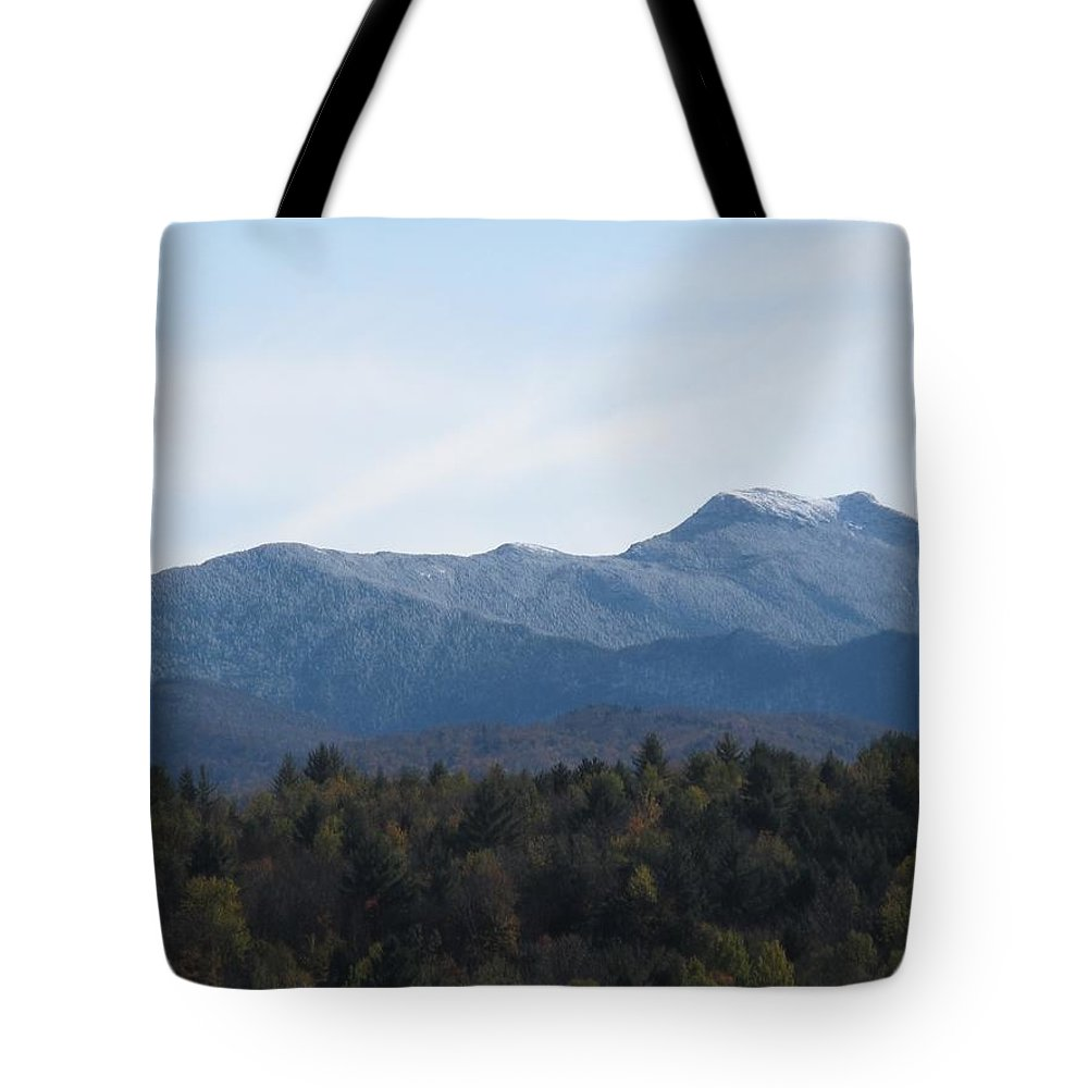 Mountains Tote Bag featuring the photograph Vermont Mountains by Barbara McDevitt