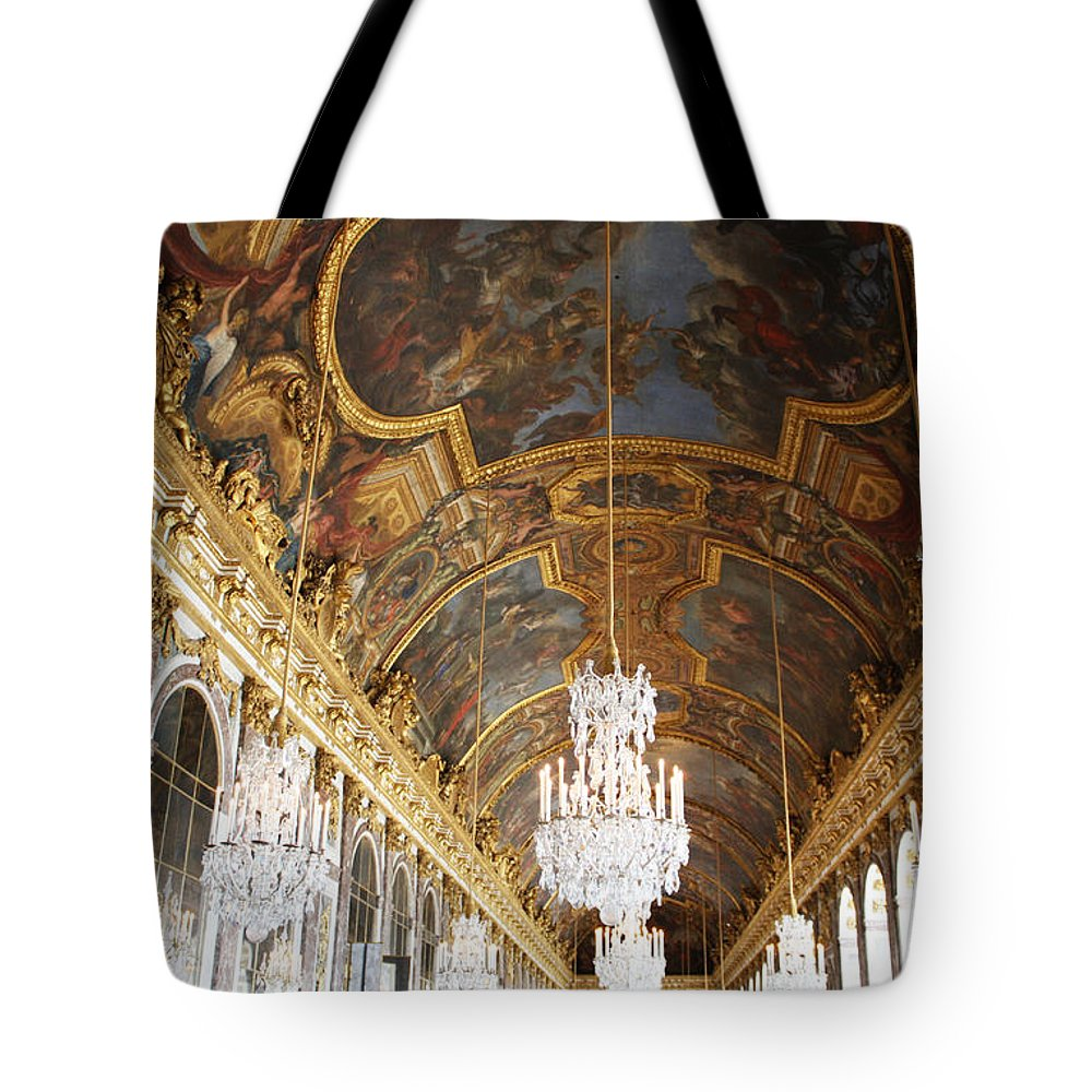 Versailles Tote Bag featuring the photograph Versailles Hall Of Mirrors by Bridget Brummel
