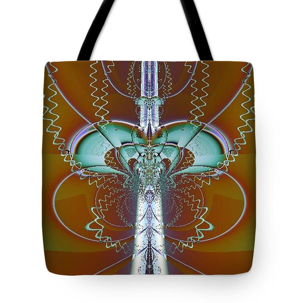 Digital Art Tote Bag featuring the digital art Vertebrae I by Dragica Micki Fortuna