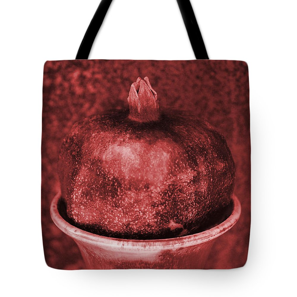Pomegranate Tote Bag featuring the photograph Very Red Pomegranate by Luv Photography