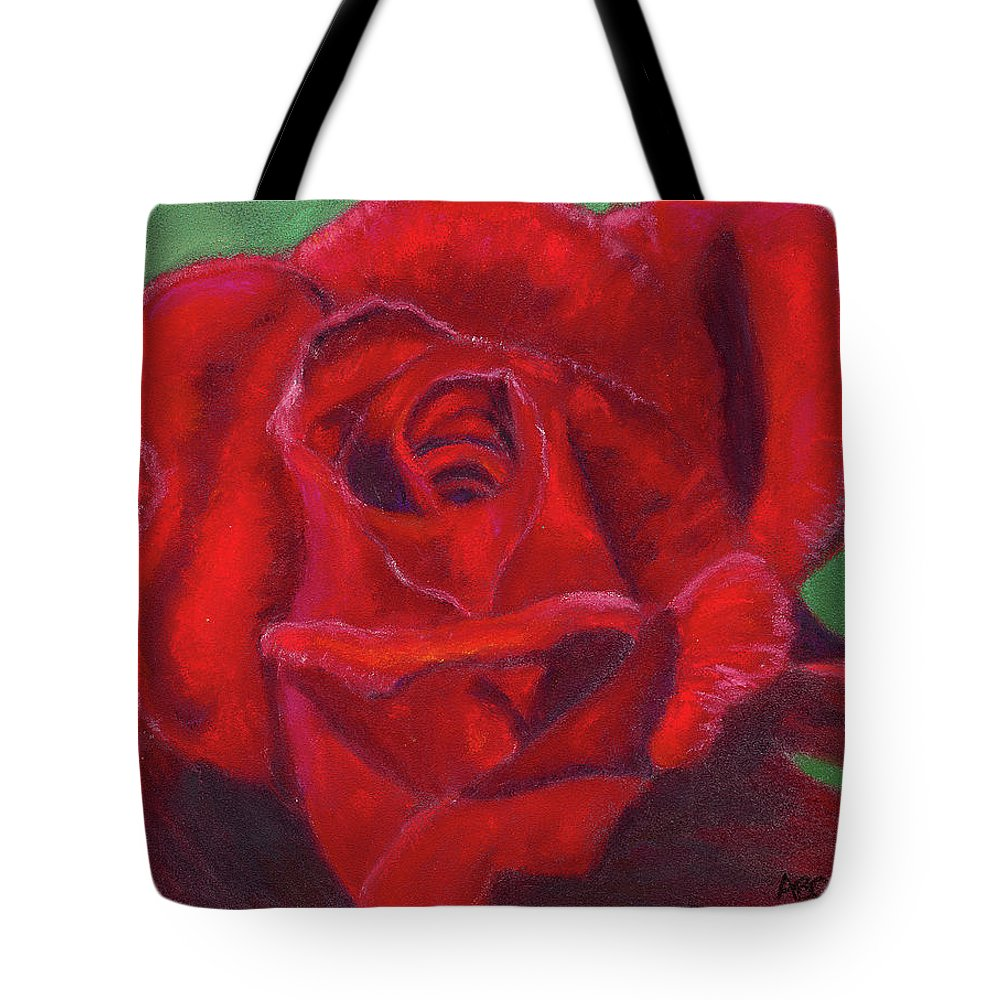 Rose Tote Bag featuring the painting Very Red Rose by Arlene Crafton