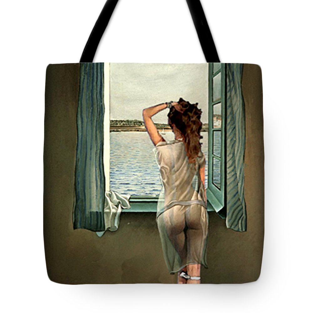 Seascape Tote Bag featuring the digital art Very Soon by Marcus Lewis