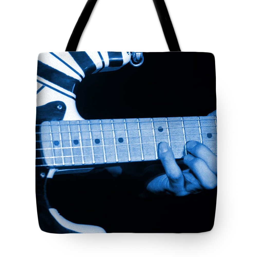 Van Halen Tote Bag featuring the photograph Vh #20 In Blue by Ben Upham