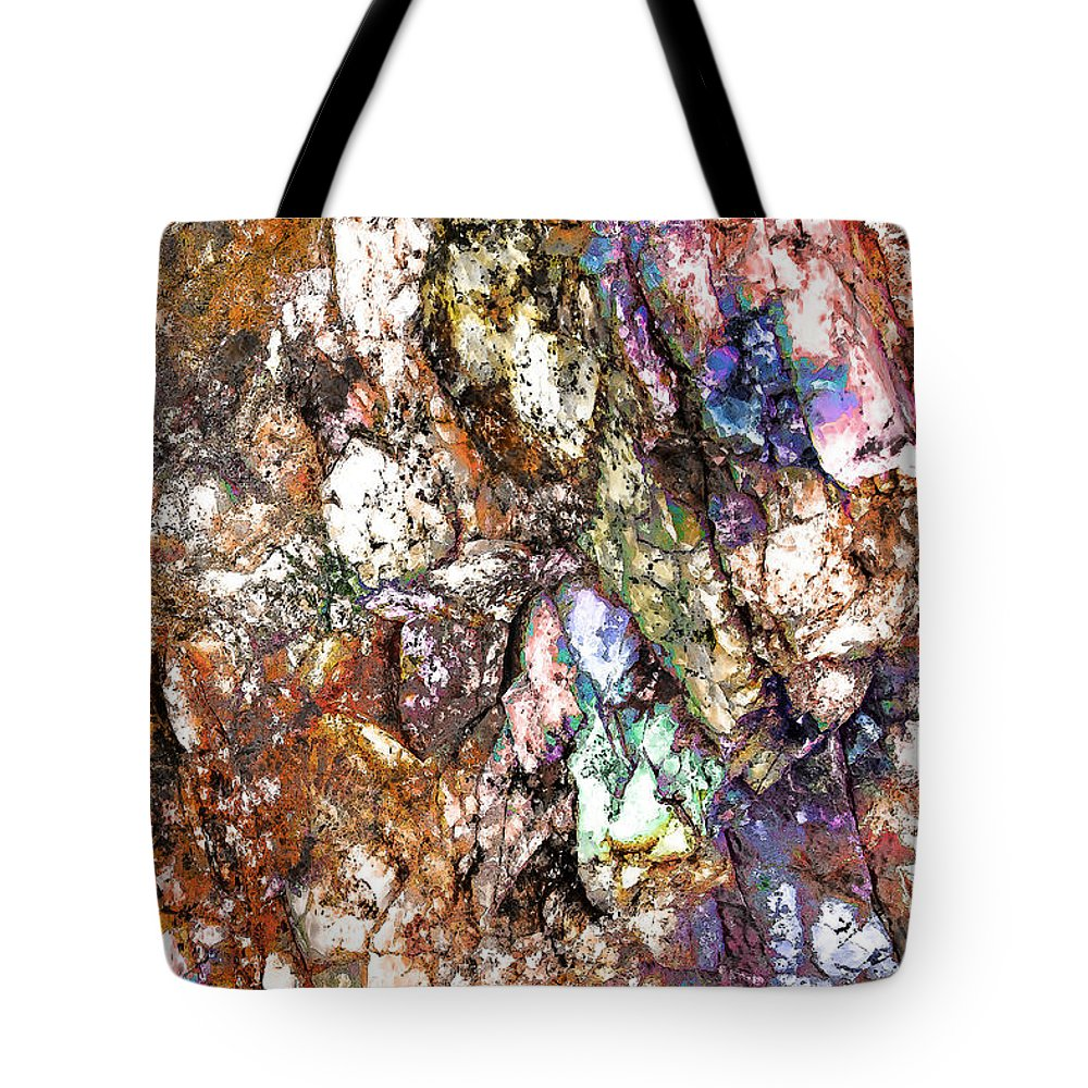 Abstract Tote Bag featuring the digital art Vibra 1 by GabeZ Art