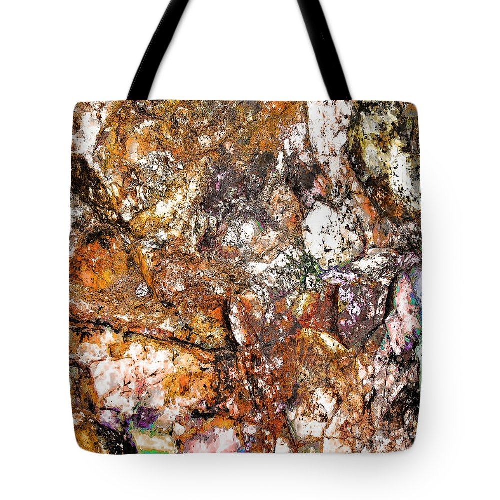Abstract Tote Bag featuring the digital art Vibra 2 by GabeZ Art