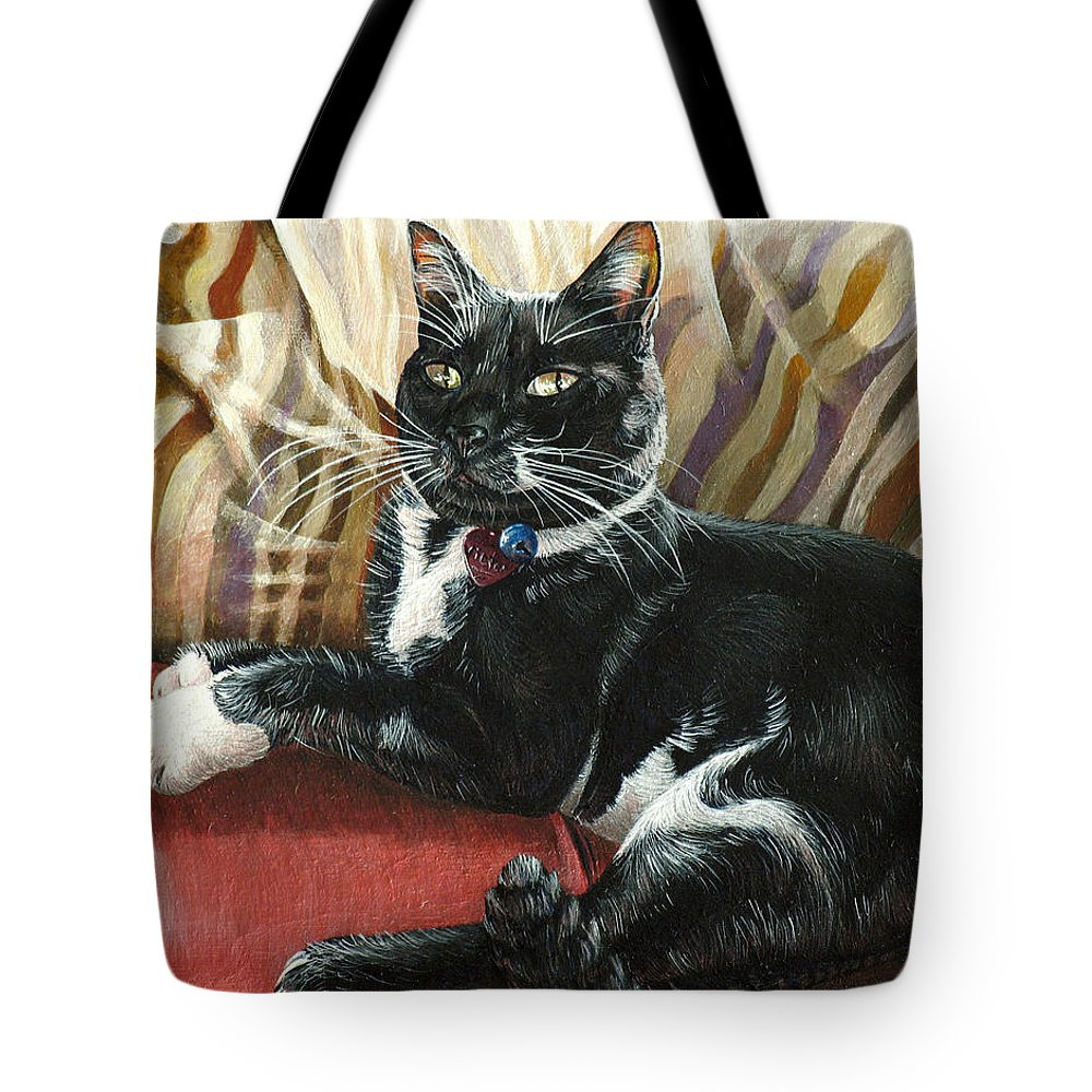 Victor Tote Bag featuring the painting Victor by Cara Bevan